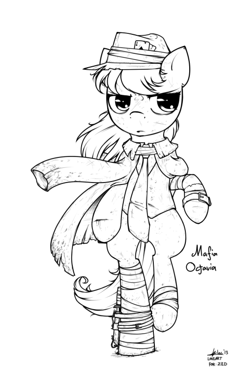 alecmadeablog:  Post Apocalyptic Mafia Octavia Another pony for my Post Apocalyptic themed Sketches. Well… kinda over-hauled this one. Honestly it looks better with color, trust me. Duration: 3 hours on Lining itself… Transparent PNG here Mafia Octavia Belongs to Zed  ((AAAH holy crap this is awesome! Thanks Alec!))
