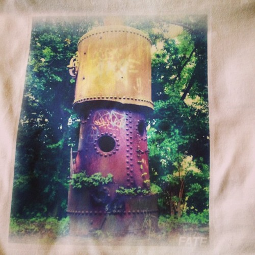 Rust photo courtesy of @jaydub14 Sample tee for #SS13 #rust #tower #derby #melbourne #uk #tshirt #print #fashion #skate #bmx #forrest #guy #girl
