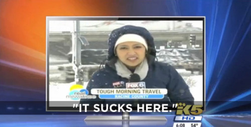 Fed-up Reporter Gives Honest Weather Report