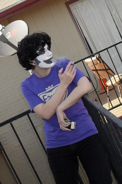 fatallywhimsical:  human gamzee smokes cloves because he is goth as fuck Human Gamzee by fatallywhimsical