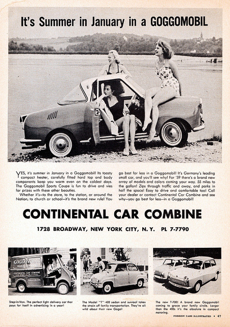 1959 Goggomobil Ad (USA) by aldenjewell on Flickr.1959 Goggomobil Ad (USA)