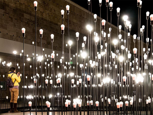 IKEA Portugal partnered with Like Architects to construct LEDscape in order to promote a new line of lighting solutions.
