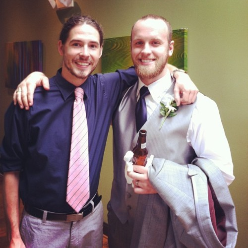The groom and I.