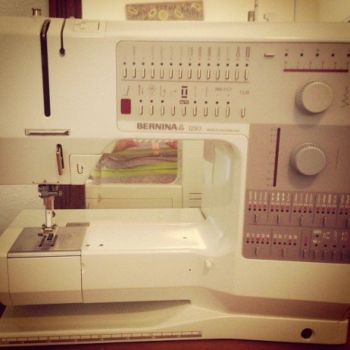 Opened up Momma's Bernina for the first time today. Can't wait to learn how to use this baby!