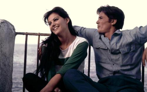 dallospazio:  Claudia Cardinale and Alain Delon in Sicily while filming Luchino Visconti's Il gattopardo.