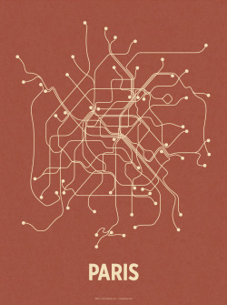 Paris underground veins map