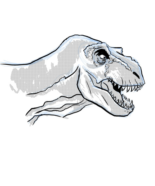 Just drawin' dinosaurs. Like ya do.