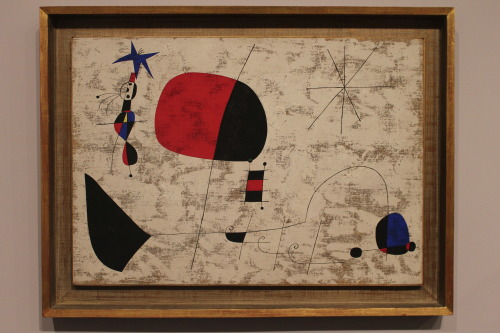 Joan Miró, (Woman, bird and star) ,1949