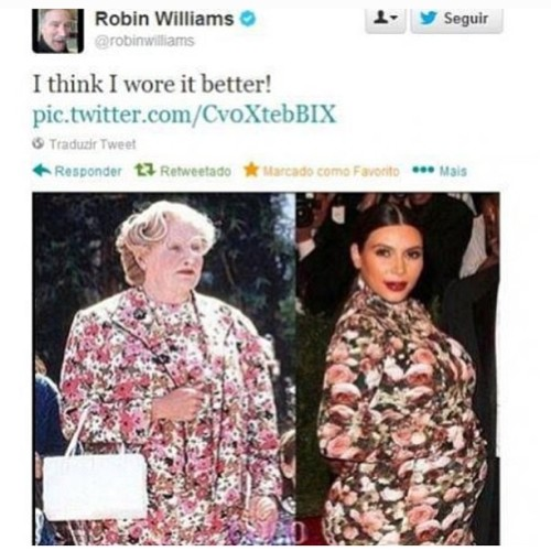 Ms. Doubtfire rocked it!😎😝👗🌸  #Kardashian💃