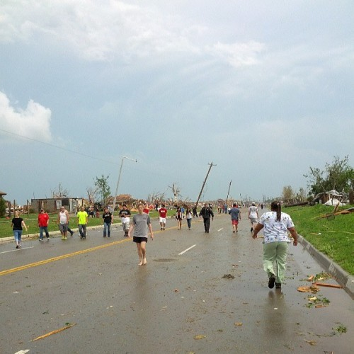 instagram:   Tornado Strikes Moore, Oklahoma An EF-4 tornado struck Moore, Oklahoma today, causing widespread damage across a 20-mile path throughout the Oklahoma City suburb. The tornado has claimed at least 37 lives with many more injured and has left thousands without power. Our thoughts go out to those who have been affected, and we hope those in the Oklahoma City area stay safe in the upcoming days. You can find more information on how to help the tornado victims here.   :( :( :(