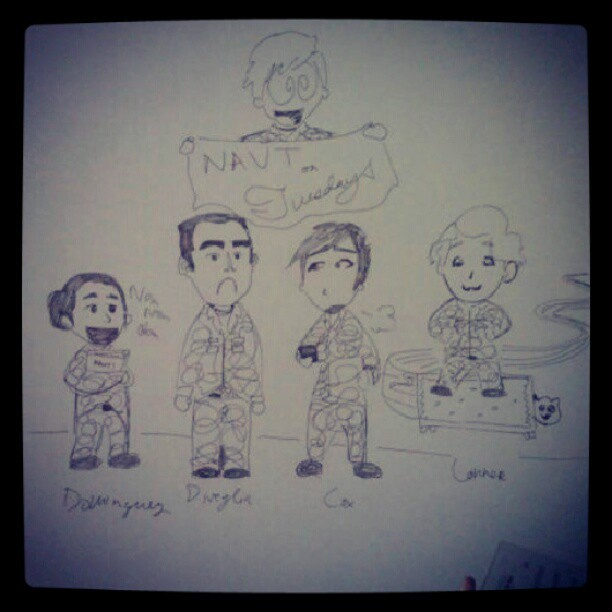 A drawing my friend drew of us at practice Lol! #photooftheday
