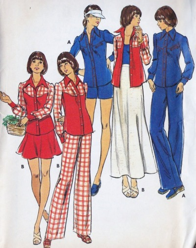 superseventies:  1970s junior sewing pattern illustrations.