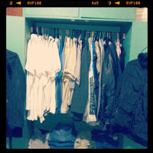 Whew…. Done sorting out my closet …..