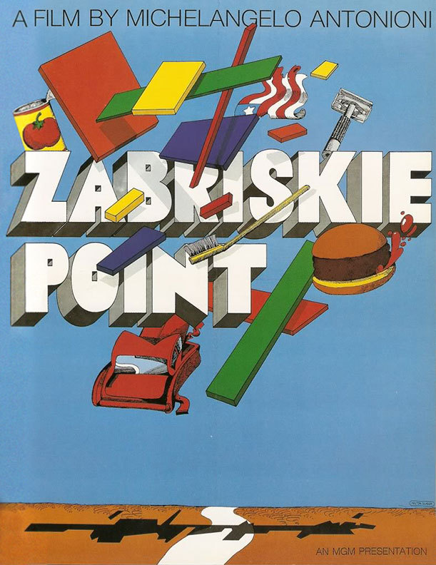 c86:  Milton Glaser - Unused poster for Zabriskie Point, 1970 via Notebook