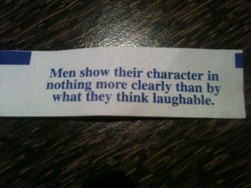 I think this is the most intelligent fortune cookie I've ever seen.
