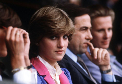 dianaspot:   Diana Princess of Wales at the Tennis Championship in Wimbledon - 1982.