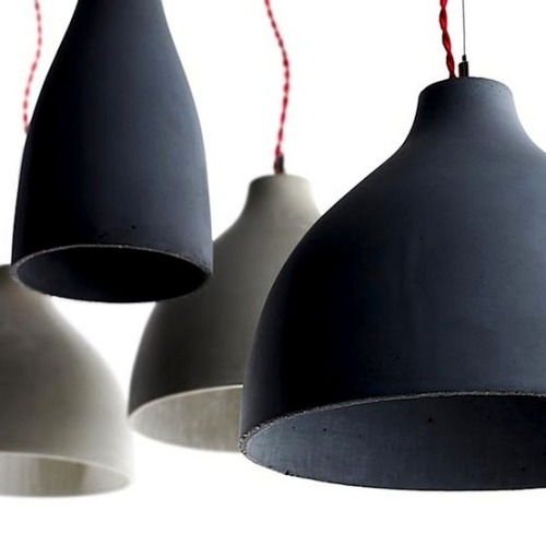 morepicturesthanwords:  Heavy Lights: slip cast thin walled concrete lamps designed by Benjamin Hubert.