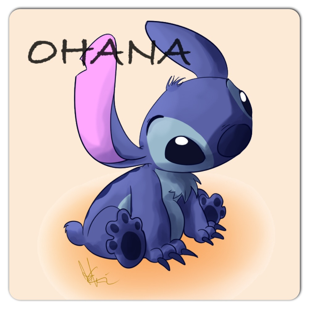 Ohana means family family means nobody gets left behind or forgotten.