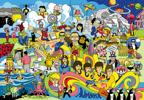 ericparkerr:  An illustration of 70 songs by The Beatles in one picture.
