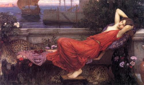 centaurettedefeu:   Ariadne by John William Waterhouse (1898).