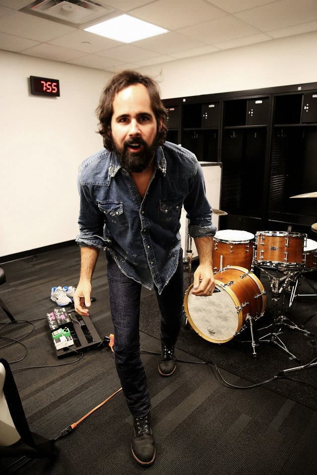 talkstostrangers:  Outsider Denim Ronnie, the drummer for The Killers wearing our modern cowboy Jeans.