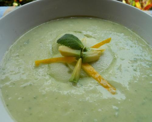Recipe: Avocado soup Cool and creamy avocado soup slides down easy. The ideal dish on a hot day.