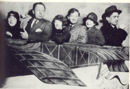 "Elsa Triolet, Robert  Delaunay, Claire & Yvan Goll, Valentine Khodassevitch, Maiakowski - photo from the happier days of early surrealism, before Breton accused Goll in the 1st Surrealist Manifesto (1924) of traditionalism and too direct an adherence to Apollinaire's ideas. (Apparently Goll and Breton even had a little fist fight at a dance performance) Many years later Paul Celan ran afoul of Claire Goll who accused him of systematic plagiarism of her late husband Yvan Goll's (d. from leukemia, 1950) work. This put additional strain on Celan's fragile mind and was instrumental in driving him to suicide in 1970… Ina Hartwig: ""But Celan is utterly defenceless against the attacks of his critics and at the same time, hugely demanding of his friends - cumulating in the Goll affair. Yet even in its darkest hour, Celan undoubtedly received support from Bachmann, Marie Luise Kaschnitz and others. They published a letter to the ""Neue Rundschau"" in response to the untenable charges of plagiarism which Claire Goll, herself of Jewish origin, maliciously put about in the world, saying that Celan had helped himself poetically to the work of her deceased husband, Ivan Goll. For Celan, this was a traumatic compounding of his persecution complex."""