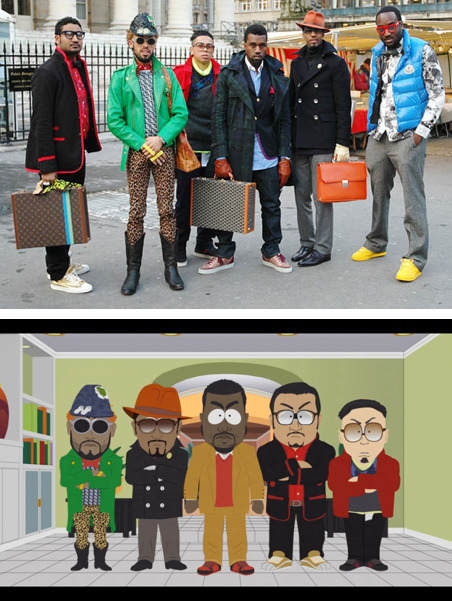 rillawafers: Kanye's Entourage on South Park