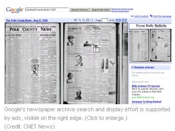 Google raising newspaper morgues from the dead | News - Digital Media - CNET News