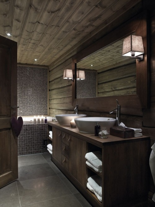 justthedesign:  Norwegian Cabin Bathroom