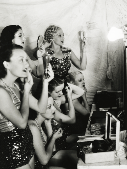 vintagegal:  Chorus girls on the set of Star for a Night (1936)