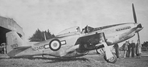 Mustangs of the Commonwealth…Image #1: A RNZAF P-51 Mustang in post-war service with No.2 Wellington TAF Squadron