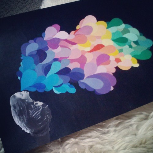 mckennanicoleg:  the end . #finished#10yearslater#artproject#color#rainbow#followme#artist#latergram#workinghard#bloodsweatandtears#graphic#paint