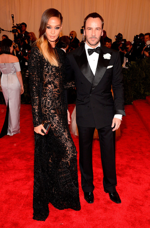 rougevision:  Joan Smalls & Tom Ford at MET Gala 2013.
