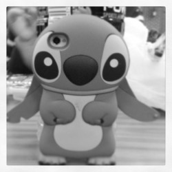 Day 14: Black and White (: #day #14 #black #and #white #meep #rawr #stitch #cute #may #maymonthchallenge #maychallenge #emmalees #phone #case @emmalee_elizabeth09