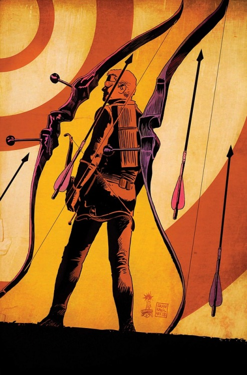 thezodiack:  Hawkeye #12 cover by Francesco Francavilla