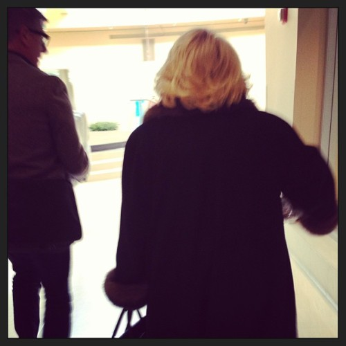Just walking behind Joan Rivers at work…nbd