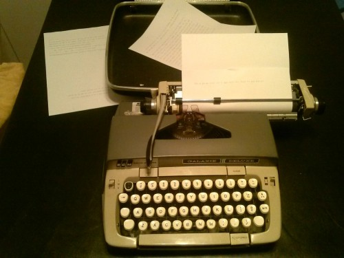 I got a typewriter from my grandpa. Not sure what I'm going to do with it.
