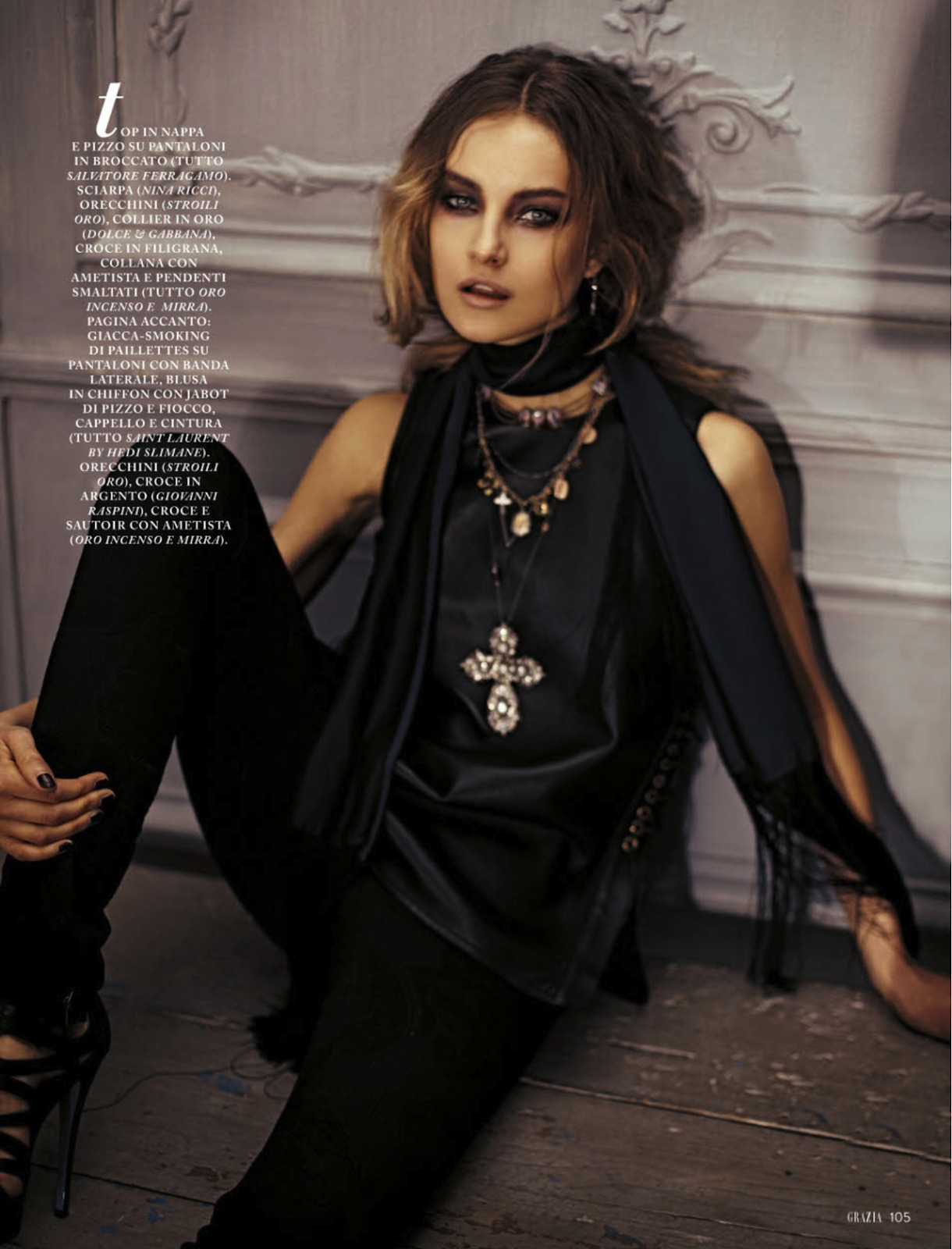 styleonnet:  gitana: mariana by boris ovini for grazia italia 7th march 2013