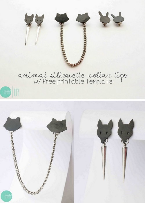 DIY Easy Animal Collar Tips Tutorial and Templates from Minted Strawberry here. Lots of people are selling collar tips on Etsy right now.