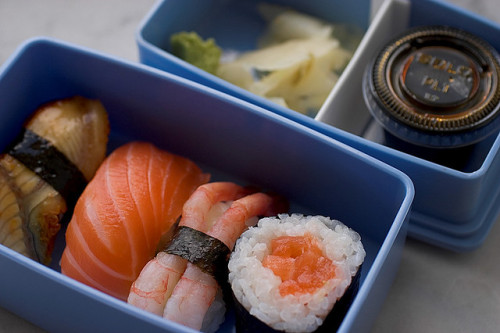japanlove:  Sushi Bento by mismisimos on Flickr.