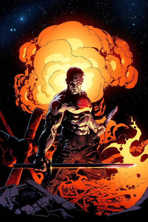 hell-yeah-valiant-comics:  Bloodshot #2 1:20 variant cover artwork by Andy Brase