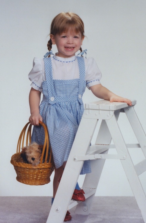 """Annabella as Dorothy, Halloween 1998."" Have a great Oz photo? Click here to submit it to NPR's Backseat Book Club."
