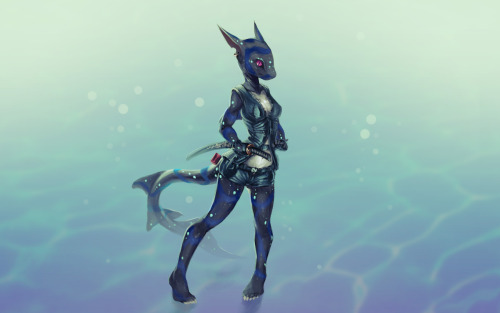 Sharkgirl warrior thingy as commissioned :D