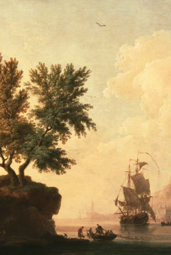Nearly 100,000 sunsets ago. Mediterranean Harbor Scene (detail), about 1763, Pierre-Jacques Volaire. The J. Paul Getty Museum