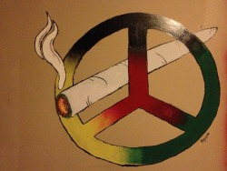 Smoke Paint Peace By - Roo<3