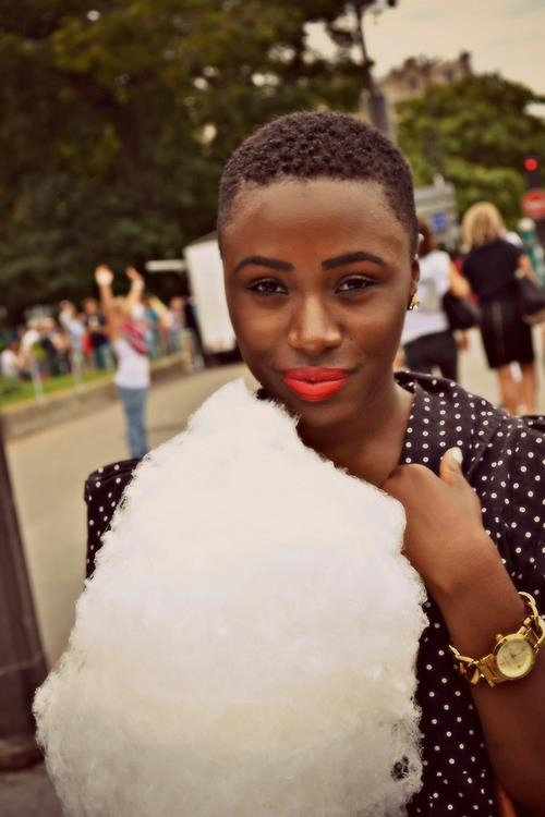 lovelyandbrown:  cotton candy on a rainy day.