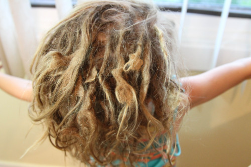 the kid's dreads are 6 months old!