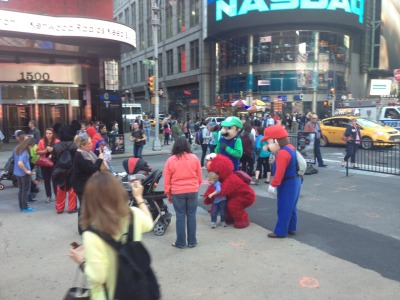 These Times Square characters have now taken on a new menacing allure in my mind since that Elmo pushed that kid down.