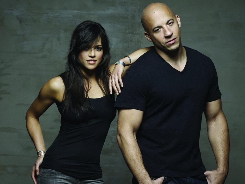 Michelle Rodriguez and Vin Diesel SO EXCITED FOR FAST & FURIOUS 6 OMG.